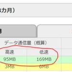 2017年11月 MVNO一家の月間データー通信量は? 4人で1GB以下